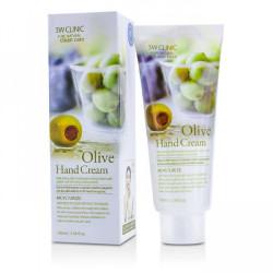 Увлажняющий крем для рук 3W CLINIC с экстрактом оливкового масла Olive Hand Cream, 100 мл