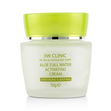 Зволожуючий крем для обличчя 3W CLINIC Aloe Full Water Activating Cream, 50 мл