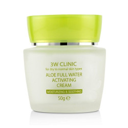 Увлажняющий крем для лица 3W CLINIC Aloe Full Water Activating Cream, 50 мл
