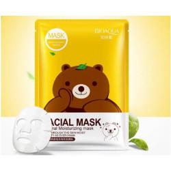 Маска с эссенцией зеленого чая Bioaqua Fasial Animal Mask BQY8487 30мл.