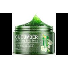 Глубокоувлажняющій скраб гель для тіла BioAqua Cucumber Hydrating Body Scrub з екстрактом огірка 120 г