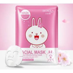 Маска с эссенцией Вишневого цвета Bioaqua Fasial Animal Mask BQY8470