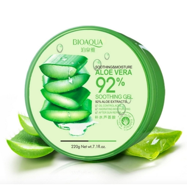 Увлажняющий гель Bioaqua для лица и тела с натуральным соком aloe vera 220 г