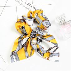 Резинка - платок для волос с принтом Yellow