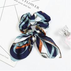 Резинка - платок для волос с принтом Blue