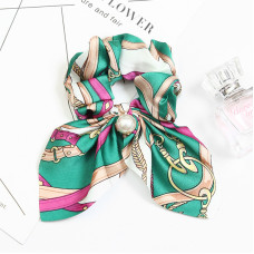 Резинка - платок для волос с принтом Green