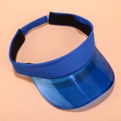 Женский солнцезащитный козырек - кеппи Transperent Blue KDM3