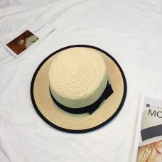Женская соломенная шапка с бантиком - Beige A26301