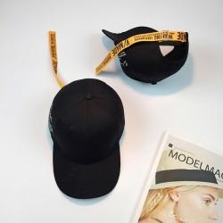 Стильная женская кепка - бейсболка V/Made B12207Y  Long ribbon- Black