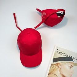 Стильная женская кепка - бейсболка V/Made B12207Y  Long ribbon - Red