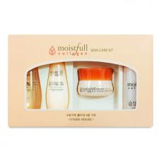 Набор мини-версий средств с коллагеном Etude House Moistfull Collagen Skin Care Kit Set (toner emulsion essence cream) - 4 предмета 15/15/5/5 мл