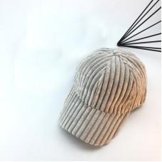 Женская вельветовая кепка - бейсболка  осенняя  VELVET - Grey
