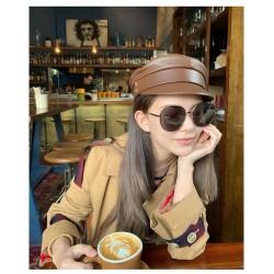 Женская кепи - кепка Brown 994833 Коричневая Эко кожа