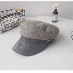 Женская кепи - кепка Retro Velour chrm-9930222 Светло-серая