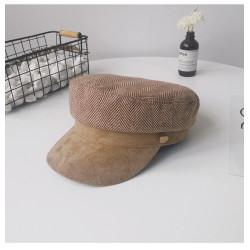 Женская кепи - кепка Retro Velour chrm-9930223 Коричневая