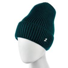 Теплая женская шапка  - однотонная Green chrm-zh-52GR Зеленая