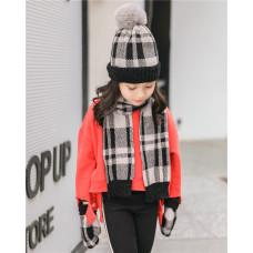 Детский комплект шапка + шарфик  - Nordic style  M-195300260 Серый