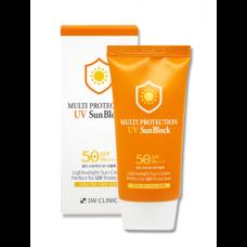 Солнцезащитный крем для лица 3W Clinic Multi Protection UV Sun Block SPF50+/PA+++
