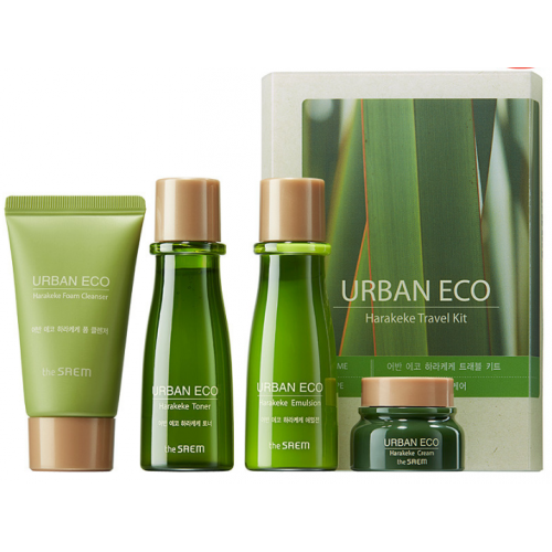 The Saem Urban Eco Harakeke Travel 4 Kit foam/25ml+ton/31ml+emul/31ml+cr/8ml)