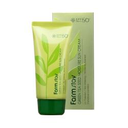 Защитный крем FarmStay Green Tea Seed Moisture Sun Cream SPF50
