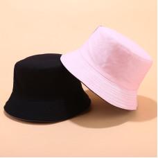 Двухсторонняя однотонная панама  Simple Pink YFM460 унисекс