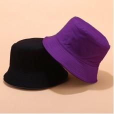 Двухсторонняя однотонная панама  Simple Violet YFM460 унисекс