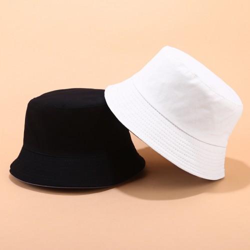 Двухсторонняя однотонная панама Simple White YFM460 унисекс