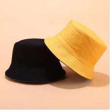 Двухсторонняя однотонная панама  Simple Yellow YFM460 унисекс