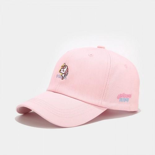 Женская Кепка - бейсболка - Unicorn - розовая