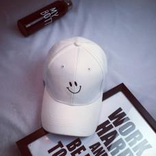 Стильна кепка Smile - B14201 унісекс, біла