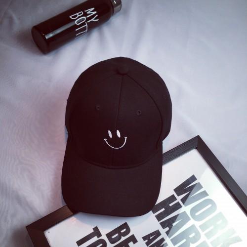 Стильная кепка Smile - B14201 унисекс, черная