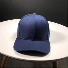 Стильна кепка Simple - B13101 унісекс, темно-синя на липучці