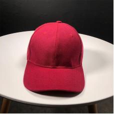 Стильна кепка Simple - B13101 унісекс, червона на липучці