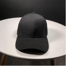 Стильна кепка Simple - B13101 унісекс, чорна на липучці