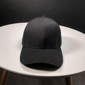 Стильная кепка Simple - B13101 унисекс, черная на липучке