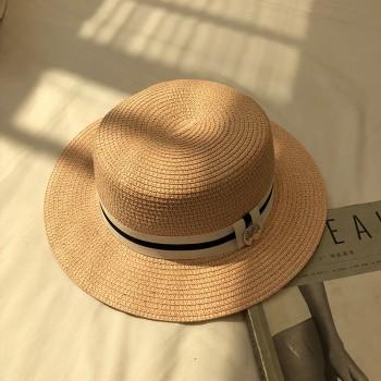 Женская шляпа - однотонная Tree Label chrm-B24316 Темно-бежевая