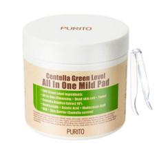 Пілінг-пади з екстрактом центелли PURITO Centella Green Level All In One Mild Pad 70шт.
