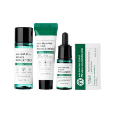 Набор Some By Mi AHA BHA PHA 30 Days Miracle Mini Set (soap/30ml + ton/mini/30ml + ser/mini/10ml + f/cr/mini/20g)