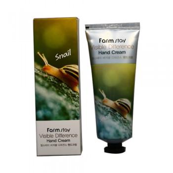 Крем для рук с натуральным экстрактом улитки Farmstay Visible Difference Snail Hand Cream, 100 мл
