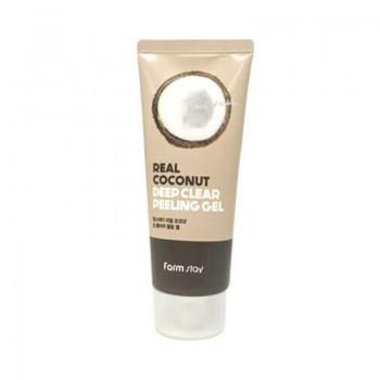 Пилинг-скатка с кокосовым маслом Farm Stay Real Coconut Deep Clear Peeling Gel 100 мл