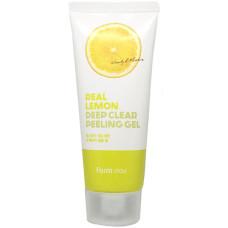 Глибоко очищуючий пілінг-гель для обличчя FarmStay Real Lemon Deep Clear Peeling Gel 100 мл