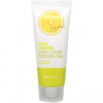 Глубоко очищающий пилинг-гель для лица FarmStay Real Lemon Deep Clear Peeling Gel 100 мл