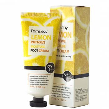Крем для ног с экстрактом лимона FarmStay Lemon Intensive Moisture Foot Cream 100 мл