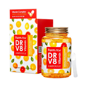 Ампульная сироватка з вітамінами FarmStay Dr-V8 Vitamin Ampoule 250 мл