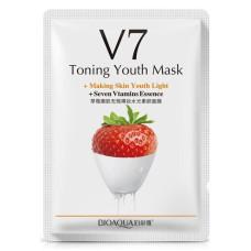 Витаминная маска для лица с экстрактом клубники и с семью витаминами Bioaqua V7 Toning Youth Mask + Seven Vitamins Essence (BQY9279)