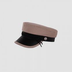 Женская кепи - кепка Simple chrm-19924 Бежевая