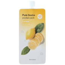 Нічна маска з екстрактом лимона Missha Pure Source Pocket Pack Lemon