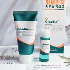 Очищающий набор для проблемной кожи с центеллой азиатской Missha Cicadin pH Blemish Anti Pollution 2 Piece Kit Sample 2шт