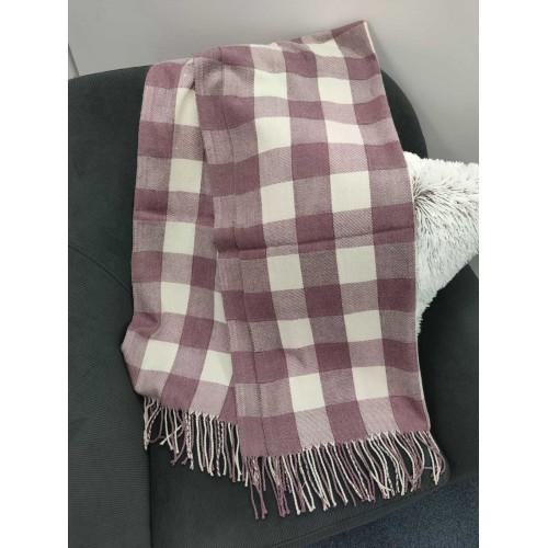 Теплый женский кашемировый шарф в клетку Checkered B1743
