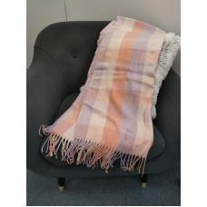 Теплый женский кашемировый шарф в клетку Checkered B1744